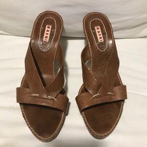 Marni Brown Heel Sandal size 40